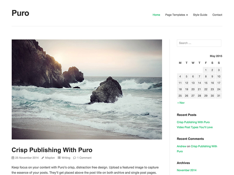 Puro WordPress Theme