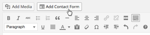 Jetpack Add Contact Form