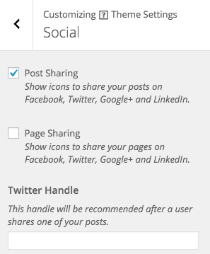 Appearance > Customize > Theme Settings > Social