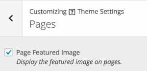 Appearance > Theme Settings > Pages