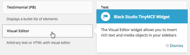 Visual Editor Widget