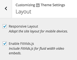 Appearance > Customize > Theme Settings > Layout