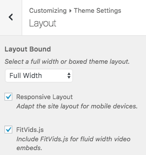 Theme Settings > Layout