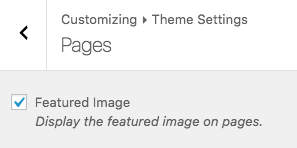 Theme Settings > Pages