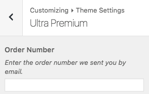 Theme Settings > Ultra Premium